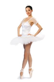 nutcracker ballerina in pointe shoes and tutu